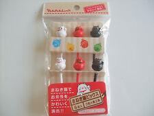 FOOD PICKS Manekineko Fortune Cat Japanese Bento Accessories/6 Pieces