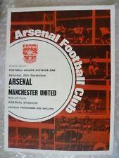 1969-70 Arsenal v Manchester United, 20th Sept with Voucher