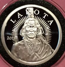 2013 Lakota Crazy Horse 1 Troy Oz .999 Fine Silver Round Collectible Proof Coin