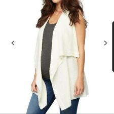 A Pea in the Pod Drape Front Maternity Vest Off-White Large