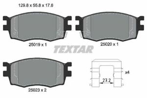2501901 TEXTAR CAR BRAKE PADS Front