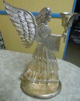 Vintage Large Silver Plated Angel Candle Holder 1994