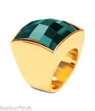 BALMAIN x H&M oro Anello con sigillo con un cordone di Vetro Verde Smeraldo XS S-Regalo