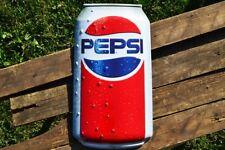 "Pepsi-Cola Can Embossed Tin Metal Sign - 18"" x 10"" - Pepsi - Retro - Soda"