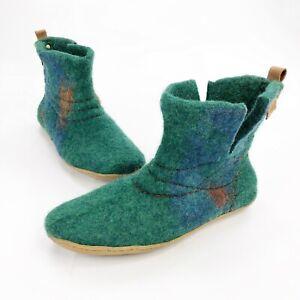 Bure Bure Handmade Felted Wool Colorful Booties Slippers 9.5 / 10