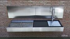 Luxurious Outdoor BBQ Charcoal Kitchen Amazing Stainless Steel Designer