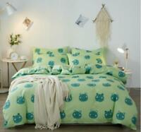 3D Green Cartoon Cute Frog KEP3030 Bed Pillowcases Quilt Duvet Cover Kay
