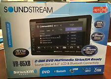 "SOUNDSTREAM DOUBLE DIN VR-65XB DVD/CD/MP3 PLAYER 6.2"" LCD BLUETOOTH USB SIRIUSXM"