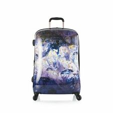 "Heys Suitcase Luggage Spinner 30"" Purple Amethyst Stone Print"