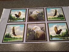 Majestic Eagles Panel Hautman Brothers Quilting Treasures Bald Eagle 23x42