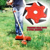 Universal 6 Steel Blades Razors 65Mn Lawn Mower Garden Trimmer Head Brush Cutter
