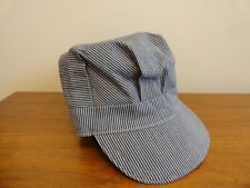 Vintage Striped HAT Union Made USA  Locomotive Engineer NOS Never Worn