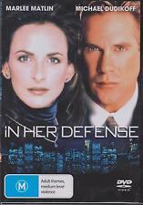 IN HER DEFENSE -Marlee Matlin, Daniel Pilon, Michael Dudikoff  -  DVD