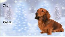 Dachshund Christmas Labels by Starprint - No 2