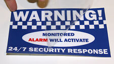 8 x WARNING! alarm window internal stickers signs decal House office security