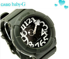 New Casio Baby-G Neon Ladies Dark Green World time Alarm Resin Watch BGA-134-3B