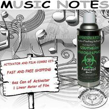 HYDROGRAPHIC FILM WATER TRANSFER HYDRO DIP 6OZ. ACTIVATOR MUSIC NOTES DIP KIT