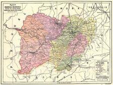 España. mapa de la provincia de Salamanca 1913 cuadro de plan de Antiguo Viejo