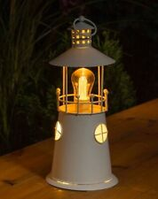 Metal Solar Lighthouse Lantern With Filament Bulb Brand Light Top Quality Item