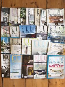 23 x Elle Decoration Magazine 2010-2017 Job Lot Bundle