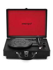 Intempo Black Bluetooth Turntable Retro Portable Suitcase Vinyl Record Player