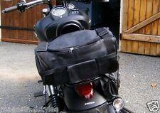 HOT Sissy bar bag Solid morbida pelle NUOVO per custom motocicletta harley stile