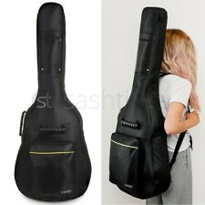 More details for new black padded full size acoustic classical guitar bag case cover high quality