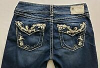 Silver Jeans Suki Flap Womens Blue Denim Size 28 x 30 Boot Cut Dark Wash Mid Rz