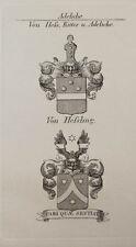 1847 Wappen Adelige von Heß von Heßling Kupfer von Tyroff Coat of Arms