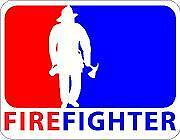Fire Fighter  Vinyl Sticker Decal Cars Trucks Vans Walls Laptop MacBook