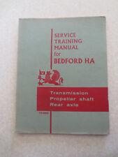 1960s Bedford van HAV transmission propeller shaft & rear axle training manual