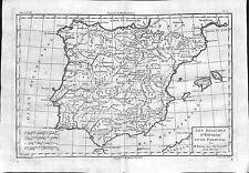 Antiguos mapas, les royaumes d 'Espagne et de Portugal