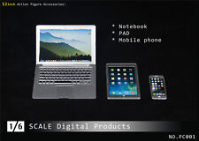 "PC 1/6 Scale Digital Products Model Notebook ,Pad ,Moible Phone For 12"" Figure"