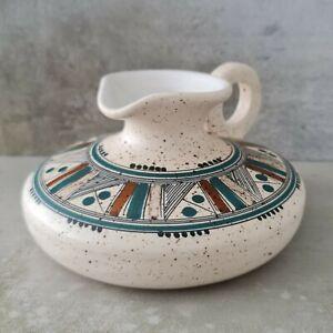 Vintage Iolkos Pottery Jug Greece Handpainted 20th Century 1970s Greek Ceramics