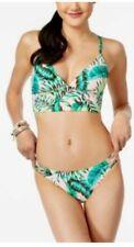 NEW California Waves Women's Strappy Cutout Hipster Bikini Bottom Multi, Large