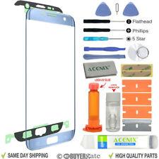Samsung Galaxy S7 Edge pantalla de Recambio Lente Frontal Kit de reparación AZUL