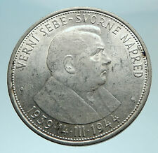 1944 SLOVAKIA REPUBLIC Jozef Tiso Genuine Silver 50 Korun Slovakian Coin i79108