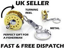 Fishing Reel Keyring Fly Fishing Metal Spinning Fishing Gift Minature