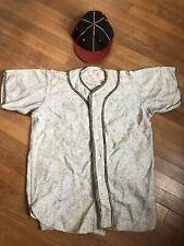Antique Vtg 1930s Baseball Jersey Wool Hat Old Shirt Cap Baltimore MD SPORTS