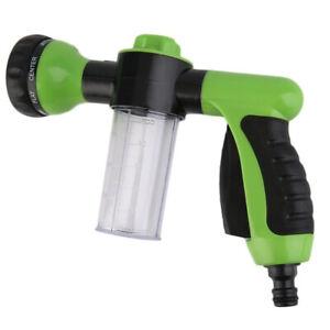 TRIXES Garden Hose Attachment Spray Gun Nozzle with Reservoir for Soap/Fertilise