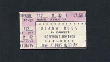 Original 1985 Diana Ross Concert Ticket Stub Rosemont ILSupremes