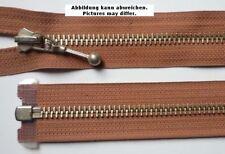 Reißverschluss teilbar Metall mit Schmuckschieber 76 cm rosenholz