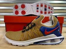best sneakers 3730f e628e Nike Shox Gravity Mens Size 9 Running Shoes Metallic Gold Red Blue Ar1999  700