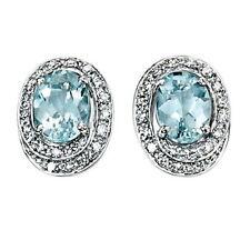 Oval Fine Diamond Earrings