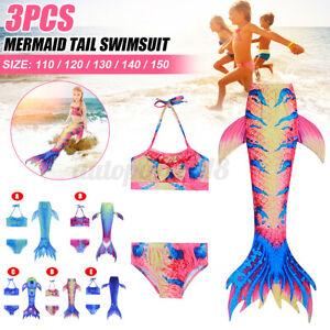 3X Bikini ragazza fata sirena coda-costumi da bagno costumi da bagno per bambini