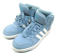 ADIDAS Unisex Kids Blue High Top Hoops Basketball Trainers - Size 3