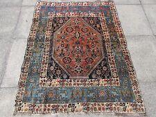 Antiguo tradicional hecha a mano de lana persa Oreintal Rosa Azul Alfombra 152x120cm