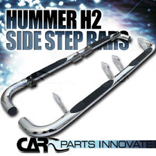 "2003-2010 Hummer H2 3"" Polished Stainless Steel Side Step Nerf Bars"