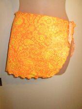 Unbranded Girls Swimwear Skirt Cover-Up Bright Orange Yellow Paisley Kids Flaw