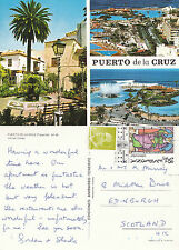 1990's MULTI VIEWS OF PUERTO DE LA CRUZ TENERIFE SPAIN COLOUR POSTCARD